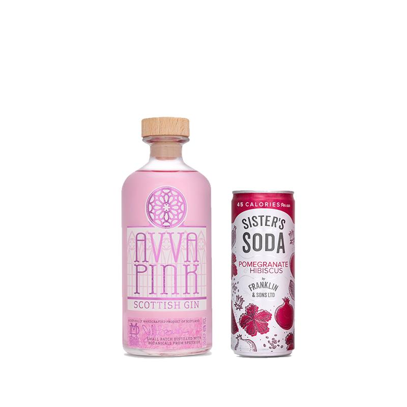 Avva Scottish Gin - Pink-and-Pomegranate