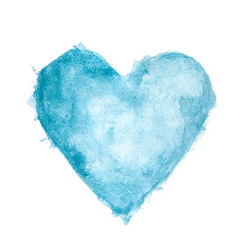 Avva Scottish Gin - Watercolour Heart